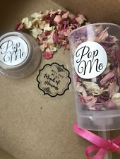 Will you be my Bridesmaid Or Maid Of Honour Confetti Push Pop The Question!