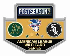 2020 WILD CARD DUELING PIN OAKLAND A'S CHICAGO WHITE SOX BASEBALL WORLD SERIES