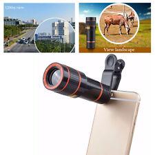 Clip-on 12x óptico Zoom HD Telescopio Lente Cámara para teléfono móvil