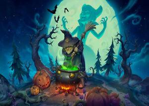 Halloween Night Witch Cauldron 300 Pcs Jigsaw Puzzle Adult Kid Educational Toys