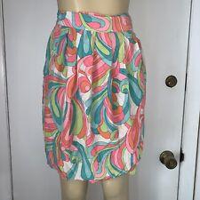 Colorful Wrap Silk Skirt Sz 4 Mod Brett Harrison