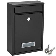 Cassetta posta postale lettere buca 325 x 215 x 85 mm acciaio nero nuovo