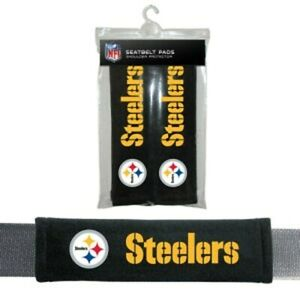 Pittsburgh Steelers NFL Auto Gym 2pc Seat Belt Pads / Shoulder Pads Covers -New