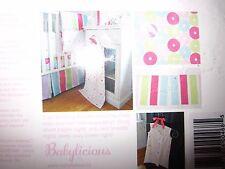 Babylicious baby girl 3 pc bedding bundle - crib skirt / crib sheet / sleep cozy