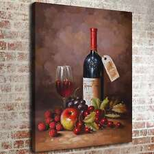 762-Renaissance Red Wine Painting HD Print on Canvas Home Decor Wall Art Picture