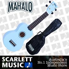 MAHALO Light Blue Soprano Uke Ukulele MR1-LBU - w/FREE Gigbag.