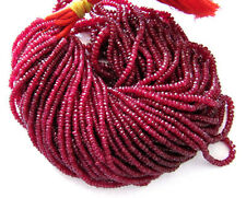 Ebay Sale 100% Natural Ruby Faceted Roundel Beads Gemstone 13 Inches 1 Strand