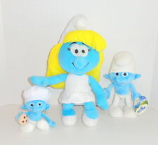 Smurfs Plush Set Lot Smurfette Chef & Clumsy 3 pc NICE! P89