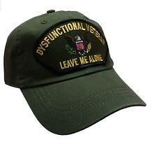 DYSFUNCTIONAL VET VETERAN Hat 100% Cotton Ball Cap OD Green Unstructured