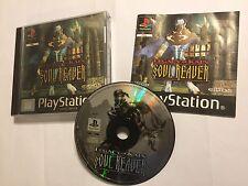 PS1 PLAYSTATION 1 PSone Kain Soul Reaver juego legado de cubierta completa Holo PAL
