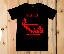 Men's Black T Shirt Pit Of Misery Dilly Dilly Stick Man Print Budweiser