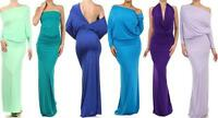 CONVERTIBLE MULTI WAY MAXI DRESS Halter Plunging Neckline Reversible Gown Party