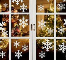 27pcs White Snowflake Sticker Decoration Glass Window Christmas Wall Stickers Ho