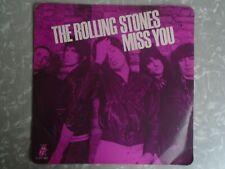 "ROLLING STONES MISS YOU b/w FAR AWAY EYES RARE PINK VINYL 12"" U.K. 12 EMI 2802"