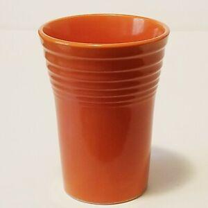 Vintage FIESTA Orange Tumbler / Glass Made In USA Fiestaware Homer Laughlin