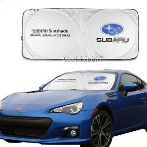 Car Front Windshield Sun Shade Shield Cover Visor UV Block Foldable for SUBARU
