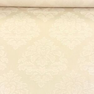 960. Cream jacquard, 100% Cotton fabric, Curtains, Upholstery, 150 cm wide