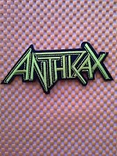 New Anthrax Sew Iron On Patch American Rock Band Music Logo Embroidered