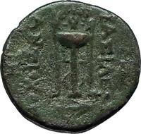 ANTIOCHOS II THEOS 261BC Ancient SELEUKID Greek Coin APOLLO TRIPOD ANCHOR i66294