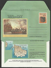 NORFOLK IS 1989 MUTINY ON THE BOUNTY SHIPS AEROGRAMME MINT Unused