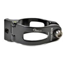 OMNI Racer World's Lightest Front Derailleur Adapter Clamp: BLACK 31.8-32mm