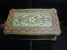 Rare vintage hand painted cylinder Ste Crolx Switzerland music box