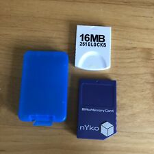 (2x) Memory Cards 8MB And 16MB for Nintendo GameCube & Original Wii Nyko