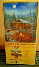 """Holiday Cabin 35 Piece Jigsaw Puzzle 10"""" x 13"""" ages 6+ & Seniors Dementia SEALED"""