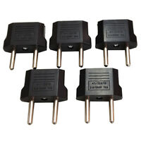 5Pcs Hot US/USA to European Euro EU Travel Charger Adapter Plug Outlet Converter