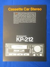 Pioneer KP-212 Cassette Sales Brochure Factory Original The Real Thing    v2