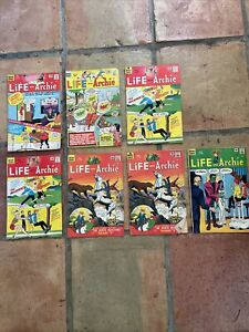 Archie Series Life of Archie Comic Book Lot of 7: July 1965 - January 1966