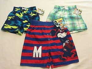 Boys Toddler Infant Swim Trunks Swim Shorts - You Pick - Mickey Mouse Summer NWT