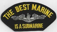 Best Marine Is A Submarine Hat Patch, Military Cap Patch Iron