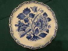 "Royal Delft de porceleyne fles  wall plate 5.75"" dia Blue white floral reduced"