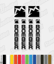Marzocchi Bomber Decals / Stickers - Custom / Fluorescent Colours - HORZ