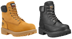 "Timberland Pro Direct Attach 6"" Soft Toe Work Boot Waterproof  Wheat / Black"