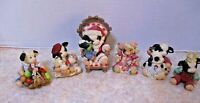 Lot of 6 Marys Moo Moos Enesco Christmas Holiday cow Collectibles EUC