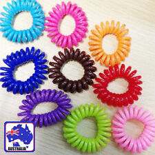 10pcs Elastic Telephone Wire Cord Head Ties Hair Band Rope Ponytail JHBAN99x10