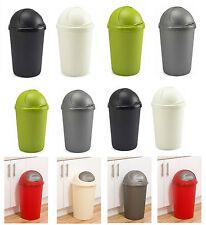 30L & 50L Plastic Bullet Bin Kitchen Office Home Rubbish Waste Dustbin Flap Lid