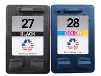 2 PK for HP 27 28 Ink Cartridges for Deskjet 3840 OfficeJet 5608 PSC 1311 1315xi