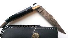LAGUIOLE, couteau de poche, damassé couteau, couteau de chasse, couteau pliant, Büffelhorn