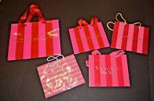 VTG Designer Store Paper Shopping Bags EUC VICTORIA'S SECRET Striped
