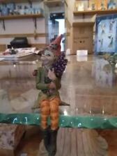 Pixie lavanda seduto LES ALPES ZAMBIASI elfo collezione originale porta fortuna