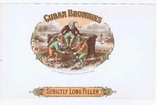 Cuban Brownies Palmer Cox comic strip RARE perhaps unique original cigar label