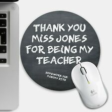 Thank You Teacher Mouse Mat, Personalised End Of Term Christmas Gift Classroom