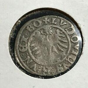 1523 POLAND SILVER 1 DENAR SCARCE COIN