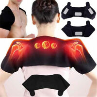 Self Heating Shoulder Neck Wrap Brace Support Strap Ache Relief Care-Heal G9Z
