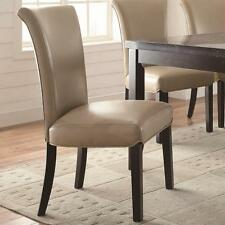 Upolstered Taupe Parsons Dining Side Chair by Coaster 102883 - Set of 2