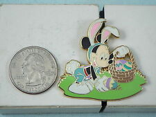 DISNEY PIN MICKEY MOUSE IN EASTER BUNNY SUIT PICKING UP EGGS