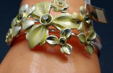 Cuff Bracelet Fashion Jewelry Pilgrim Danish Design Green Floral